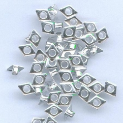 Hobby & Crafting Fun Eyelets Diamond zilver