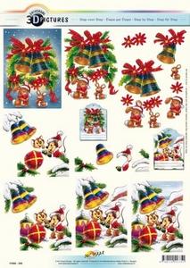 3D Kerstknipvel Universal Pictures 335 Kerstklokken