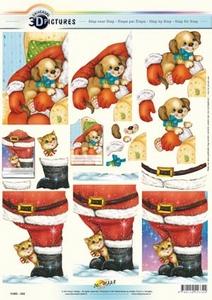 3D Kerstknipvel Universal Pictures 334 Kerstman/laars