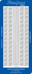 Kerststickervel Starform  981 Lijnen en sterhoekjes