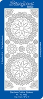 Stickervel Starform 1130 Bloem in cirkel