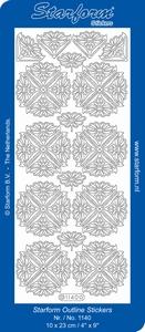 Stickervel Starform 1140 Bloemen hoekjes