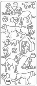 Stickervel Peel-off 1798 Dieren/honden