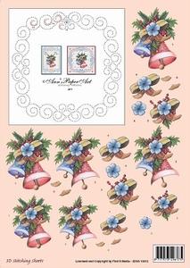 Ann's Paper Art 3D Stitching Sheets 10012 Kerstklok