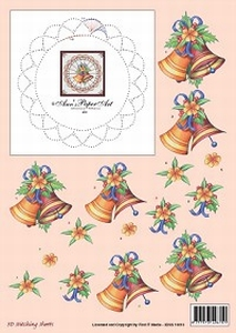 Ann's Paper Art 3D Stitching Sheets 10010 Kerstklok