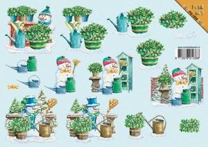 A4 Kerststansvel Push-out 3D vel Kerst 1036