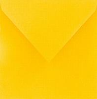 cArt-us Enveloppe vierkant goudgeel  5 stuks