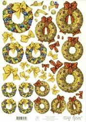 A4 Knipvel Mary Rahder 2621 Kerstkrans