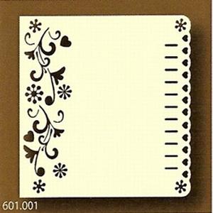 PaperUp oplegkaart 601001 vierkant Bloemenslinger