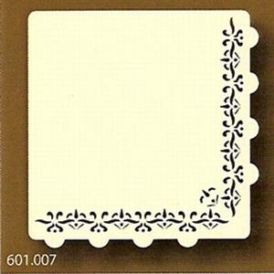 PaperUp oplegkaart 601007 vierkant Hoek ornament