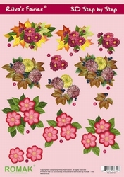 A4 Knipvel Ritva's Fairies 19 Herfstbloemen
