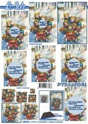A4 Kerstvel Le Suh pyramide 630014 Kinderen op de slee