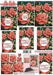 A4 Knipvel Le Suh Pyramide 630003 Bloemen/Rode rozen