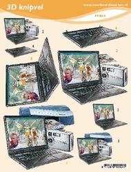 3D Knipvel A5 Voorbeeldkaarten 024 Heren computer/kodak