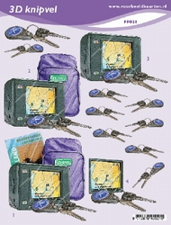 3D Knipvel A5 Voorbeeldkaarten 021 Heren op reis