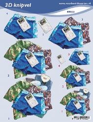 3D Knipvel A5 Voorbeeldkaarten 022 Heren zomerkleding