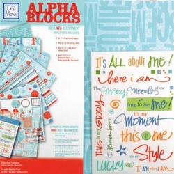 Scrapbooking Deja Views AB-P1 multicoloraqua/red