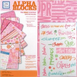 Scrapbooking Deja Views AB-P3 multicolorpink/orange