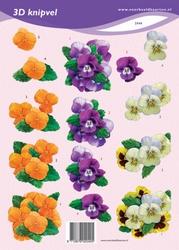 3D Knipvel VBK2048 viooltjes