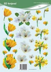 3D Knipvel VBK2045 voorjaarsbloemen
