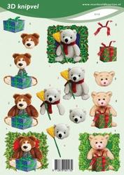 3D Knipvel VBK2113 kerstberen