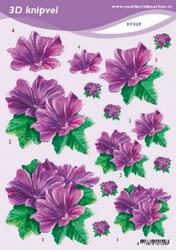 3D Knipvel A5 Voorbeeldkaarten 029 Bloemen petunia