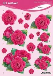 3D Knipvel A5 Voorbeeldkaarten 032 Bloemen rozen