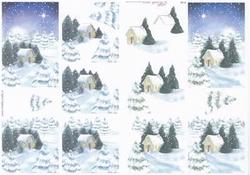 Mireille A4 knipvel X106 Kerstlandschap 1