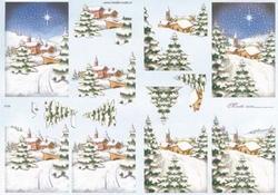 Mireille A4 knipvel X126 Kerstlandschap 2