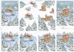 Mireille A4 knipvel X127 Kerstlandschap 3