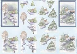 Mireille A4 knipvel X158 Kerstlandschap 4