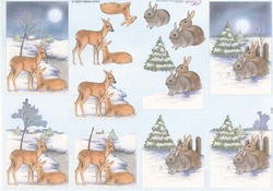 Mireille A4 kerstknipvel X162 Hertjes/konijntjes