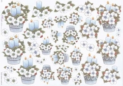 Mireille A4 kerstknipvel  X79 Blauwe kerststukjes