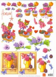 A4 Knipvel Marianne Design Franciens Flower Lovely 1238