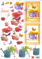 A4 Knipvel Marianne Design Franciens Flower Sweet 1237