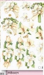 A4 knipvel Mattie MB0071 Bruiloft Orchideen