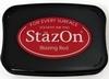 Stempelkussen StazOn 021 blazing red/rood