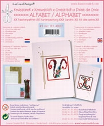LeCreaDesign Alfabet kruissteekkaart 81.4802 Lila