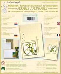 LeCreaDesign Alfabet kruissteekkaart 814833 Geel