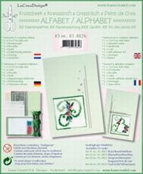 LeCreaDesign Alfabet kruissteekkaart 81.4826 Zeegroen