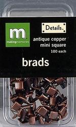 Scrap M Memories Brads mini vierkant 23746 antiekkoper