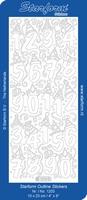 Stickervel Starform Outline 1203 Grote cijfers van 1 tot 10