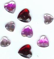 Button Fashion Gems hartjes