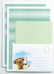 LeCreaDesign Spirella strook&kaartenset 30.4741 Groen