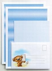 LeCreaDesign Spirella strook&kaartenset 30.4734 Blauw