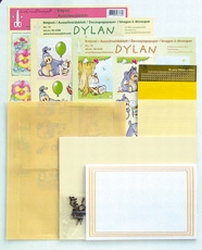 LeCreaDesign Sticker-O-Stitch Dylan 61.4444 kit Geel