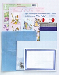LeCreaDesign Sticker-O-Stitch Dylan 61.4420 kit Blauw