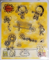 Clear stempel Nellie'S set Ollie OL007 Zomer