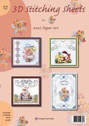 Ann's Paper Art 3D Stitching Sheets 12 Diverse