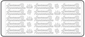 Peel-Off's stickervel Franse tekst 4607 Heureux Anniversaire